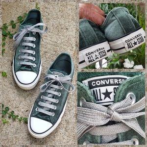 Converse All Star Green Velvet Sneakers